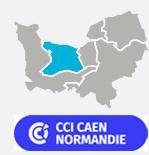 Carte de la CCI Caen Normandie